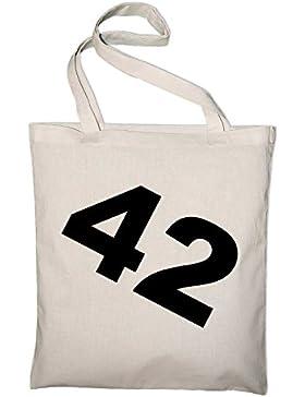 #3 Per Anhalter durch die Galaxis 42 Jutebeutel, Beutel, Stoffbeutel, Baumwolltasche