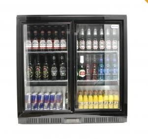 Cater-Cool Double Sliding Door Bottle Cooler With LED Lighting