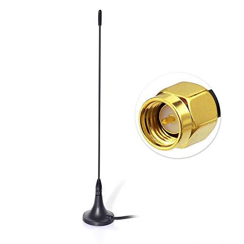 Eightwood DAB+ Antenne SMA Plug Mag Mount Stab Auto Radio Antenne mit 400cm Kabel für DAB Blaupunkt TechniSat Pioneer Kenwood Alpine MEHRWEG