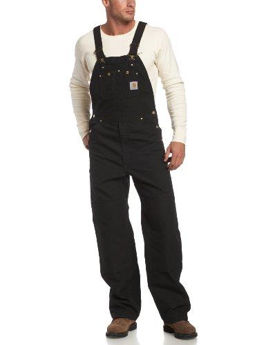 Carhartt Workwear Latzhose Duck Bib Overall, Arbeitshose, Größe 34 / 34, schwarz R01BLK