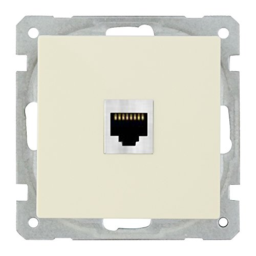 wintop Face Single RJ45 Presa con gratis cornice RJ45 Socket Get White Frame With Value About 5 EUR For Free, 1 pezzi, avorio, 1 pezzi, System 55, 16110 F S610 p953 a