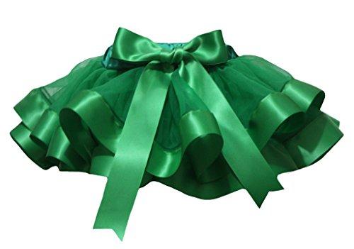 Petitebelle Dress Kelly Green 4 Layer Ribbon Girl Petal Skirt Nb-8y (4-5 Jahr) (Kelly-grün-chiffon-kleid)