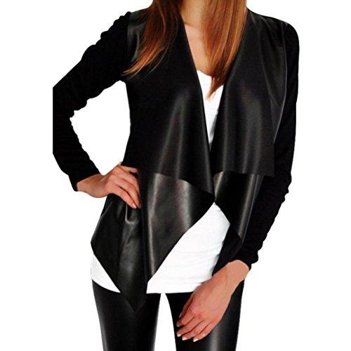 Koly _Rivestimento delle donne di moda cardigan Outwear (M)
