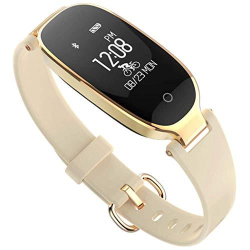 YA Intelligentes Armband der Frauen, Multi-Sportschwimmenuhr, wasserdichter Bluetooth-Abnutzungszähler, intelligentes Armband der Gesundheit,Gold