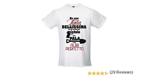 T Shirt Maglia Maglietta Idea Regalo per Il PapaHo Una Pistola e Una Pala