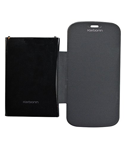 COVERNEW Flip Coverfor Karbonn Smart A26 - Black  available at amazon for Rs.229
