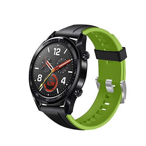 Deesee Ersatz-Armband für Huawei Watch GT Active 46 mm Honor Magic Light 55cm x 72cm grün (Honig Biene Kostüm Für Hunde)