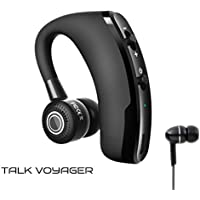 Bluetooth Headset mit Mikrofon für Handy - Talk Voyager│Telefonieren Auto  Micro USB Telefon Business Skype aptX iphone universal Office 2 Handys  Telefone ... 28ed030ac6