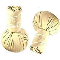 Kräuterstempel - Thai Spa - 10 Stück a` 100g - Beiger Compress Ball - Linderung von Rückenschmerzen preisvergleich bei billige-tabletten.eu