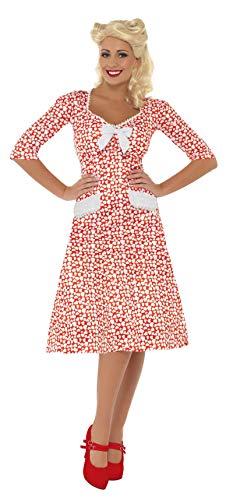 Smiffys, Damen WW2 Liebling Kostüm, Kleid, Größe: L, 39384