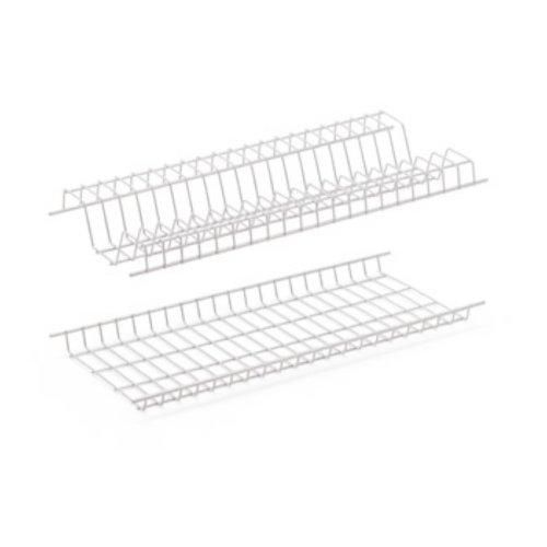 Scolapiatti Griglie plastificate antiruggine per stoviglie piatti cucina (86cm)