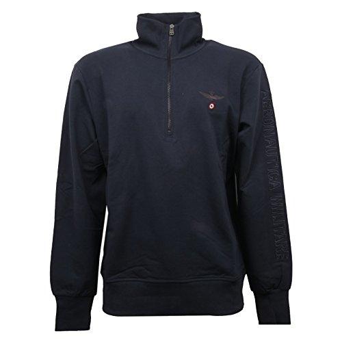 Aeronautica militare small zip linea fashion underwear felpa, blu, x-large (taglia produttore:xl) uomo