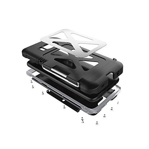 """Samsung Galaxy S8 hülle,R-just Metall Rahmen Case,Stainless Steel Metal Aluminium Metall Schutzhülle Stoßfest Dropproof Bumper Flip Cover für Samsung Galaxy S8 (5,8"""") (Schwarz) Schwarz"""