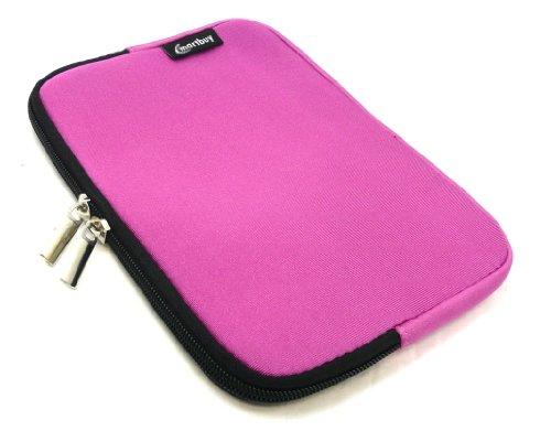 Emartbuy® Rosa Wasser Resistant Neoprene Weich Zip Case Cover Tasche Hülle Sleeve Geeignet Für I.onik TP - 1200QC 7.85 Inch Tablet (8 -Zoll-Tablet )