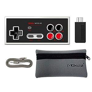 8Bitdo N30 2.4G Wireless Bluetooth Controller Gamepad für NES Classic Edition mit Mcbazel Aufbewahrungstasche