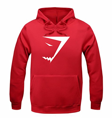 Men's Fashion Shark Sweatshirts Casual Sweatshirts red