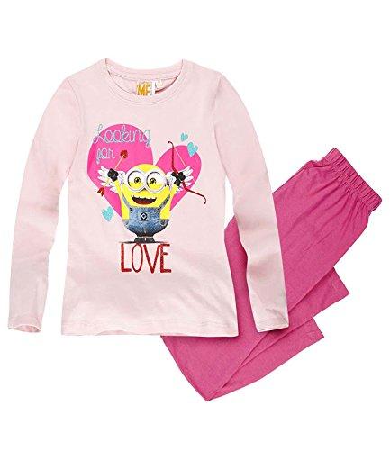 Minions Despicable Me Mädchen Pyjama - pink