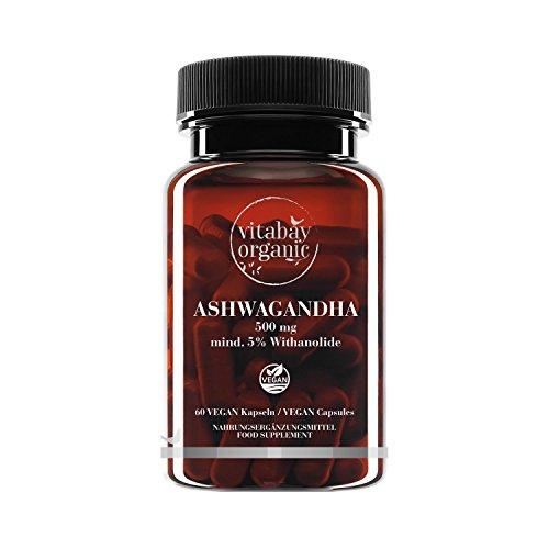 Ashwagandha 500 mg - Vegane Kapseln - natürlicher Extrakt KSM-66® - mind. 5% Withanolide (60 vegane Kapseln)