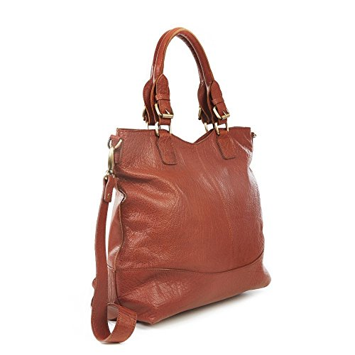 The Leather Store, Borsa tote donna Marrone marrone marrone