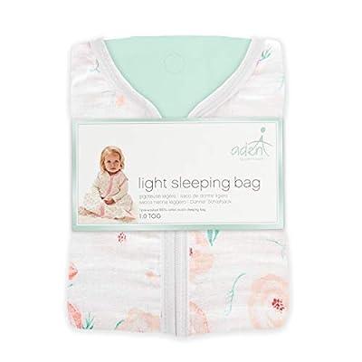 aden by aden + anais saco de dormir, 100% muselina de algodón, flor completa, rosa, 18 meses