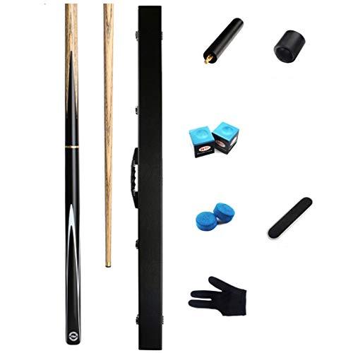 WXS Billard Queues, 57 Zoll 18 Unzen Personalisierte Asche Snooker Queue 3/4 Stück Billard Rod mit Queue Fall (Farbe : #3, größe : 10mm) - 0.75-unzen-bar