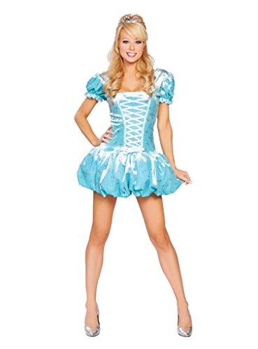 Eisige Prinzessin Kostüm - blau / silber - 2teilig (38/40)