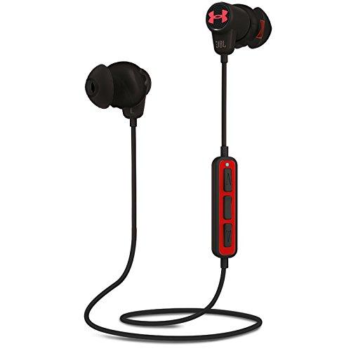 Under Armour Sport Wireless - Engineered by JBL - Kabelloser In-Ear Sportkopfhörer Schweißresistent mit 3-Tasten-Mikro und Fernbedienung  - Schwarz