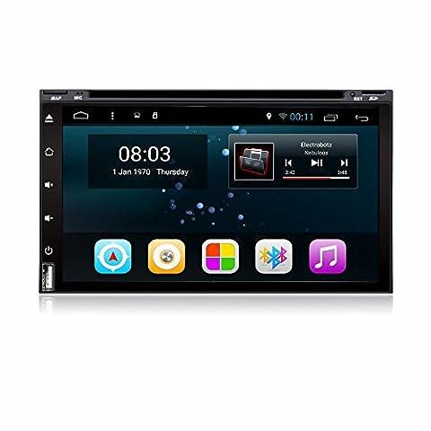 Alondy Android 6.0 voiture Radio DVD stéréo 7 pouces Double Din Head Unité de soutien GPS Sat de navigation, Bluetooth 4.0, MirrorLink, WiFi AM Radio FM RDS, Condition féminine , SD USB, HD 1080P,