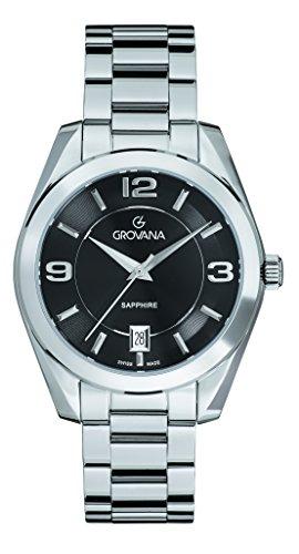 GROVANA - 5081.1137 - Montre Mixte - Quartz - Analogique - Bracelet Acier Inoxydable Argent