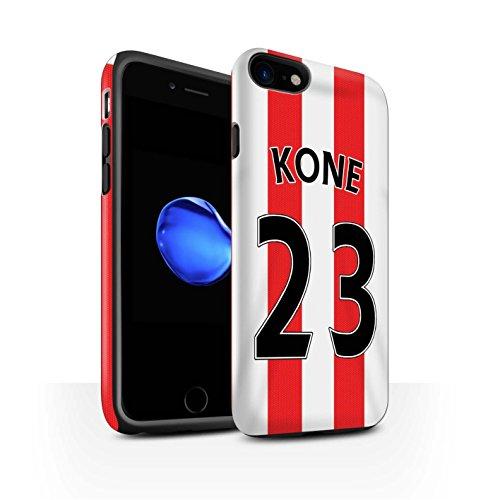 Offiziell Sunderland AFC Hülle / Matte Harten Stoßfest Case für Apple iPhone 7 / Van Aanholt Muster / SAFC Trikot Home 15/16 Kollektion Kone