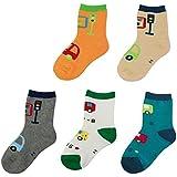 KF Baby Toddler Boy calcetines de algodón suave Value Pack, 5pares, Bebés a niños pequeños
