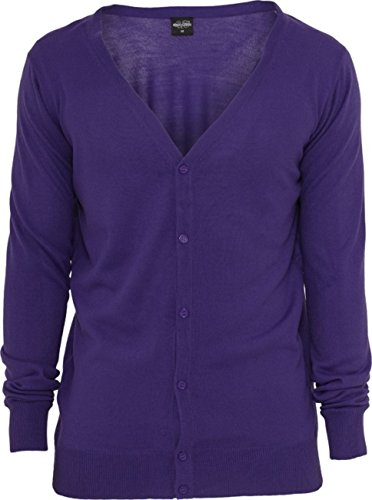 Urban Classics Herren Pullover Knitted Cardigan Grey