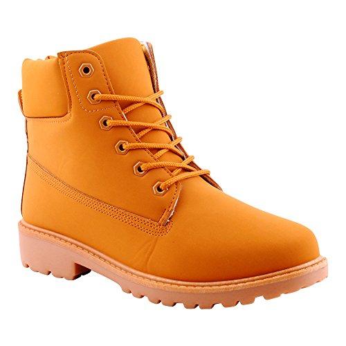 Herren Damen Schnür Boots Stiefel Stiefeletten Outdoor Schuhe Braun