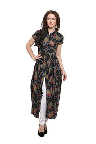 Roadstar India Women's Taffeta Silk Long Sleeves Dresses tops for women western...