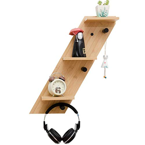 MJY Lager Regale Nordic Holz Wandbehang Schlafzimmer Partition Rack Indoor Wohnzimmer Tv Wand Lagerung Finishing Regale,Links -