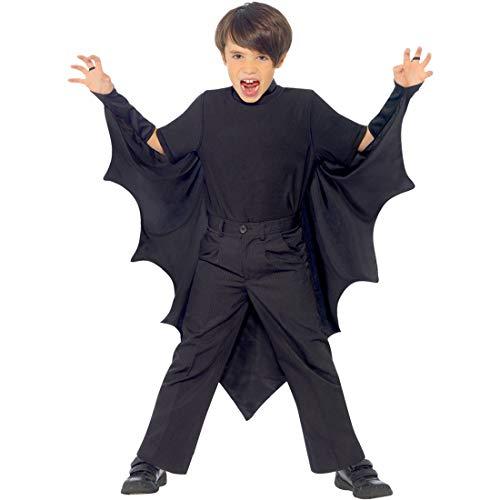 NET TOYS Fledermaus Flügel für Kinder schwarz | 1,20 m Spannweite | Origineller Vampirumhang | Dracula Cape für Jungen & Mädchen | EIN Blickfang für Halloween & Kinderfasching