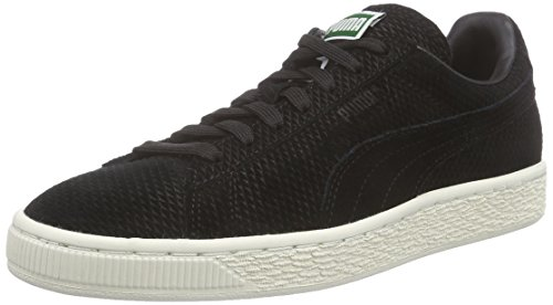 Puma Suede Classic + Mod Heritage, Baskets Basses mixte adulte Noir - Schwarz (black-whisper white 02)