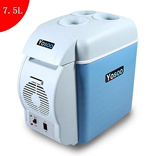 7.5L Mini Refrigerador y Calentador Portátil de Coche (Una Máquina con Doble Función) Dispositivo de Refrigeración Congelador 12 V Refrigerador para Viaje