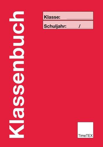 TimeTEX Klassenbuch Grundschule A4 Plus - Rot - 10737
