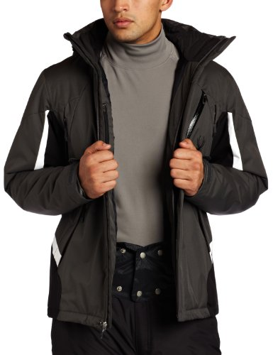 Spyder Men 's Sentinel Jacket Dark Shadow/Black/White