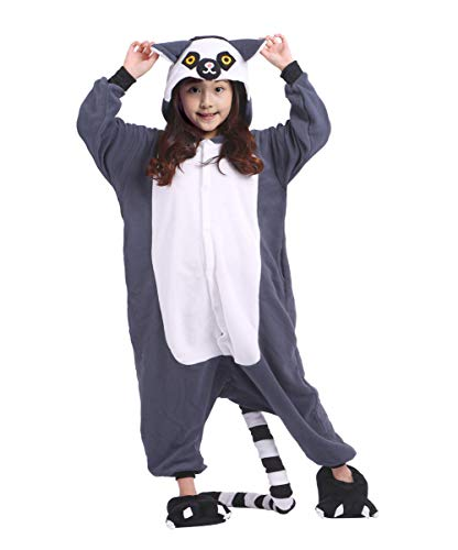 AKAAYUKO Kostüm Kinder Unisex Cosplay Jumpsuit Onesie Tier ()