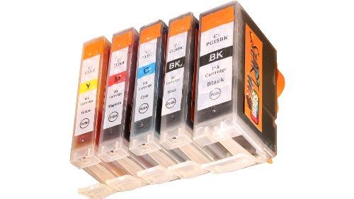 Preisvergleich Produktbild Start-Europe - 1 Satz = 5 kompatible CHIP Patronen - Black (groß + klein), Cyan, Magenta, Yellow - Druckerpatronen fuer Canon Pixma IP 3300 3500 4200 4300 4500 5200 5300 6600 MP 500 510 520 530 600 610 800 810 830 950 960 970 MX 700 850 iX4000 iX5000 Pro9000 - Sofortiges Einsetzen der Tintenpatrone ohne Adapter - kein Chipumbau wie bei den Orginalpatronen - 100% Füllstandsanzeige - Top Tinte - Qualitäts Ersatzpatrone
