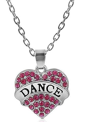 Danse Costumes Pour Les Filles Dans Récitals - Petite Argenté et fuchsia/cristal rose en forme