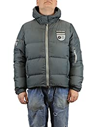 Chpapa Real Goose Down Jacket with Hood Grey and Brown