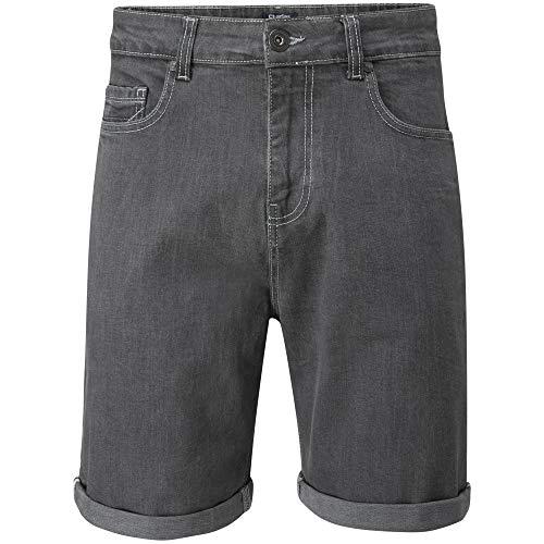 Charles wilson pantaloncini uomo denim elasticizzati (grey, 34