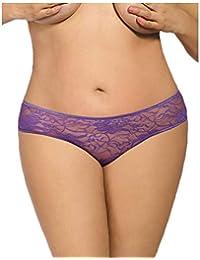 Beito Las mujeres transpirable encaje escritos atractivos más el tamaño de  las bragas transparentes atractivas erótica 51caa7abba00