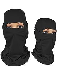 Hisea pasamontañas cara máscara, máscara de viento motocicleta Premium para snowboard, ciclismo, pesca, Running, carreras, escalada, hiking-quick seco y suave, todo el año, color negro, tamaño Tamaño libre
