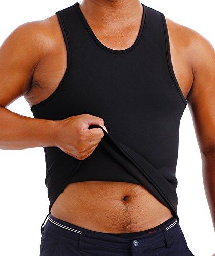 Neopren-klammer (Gotoly Männer Abnehmen Body Shaper Sauna Undershirt Weste Neopren (4XL Für 127-137 CM Taille, Schwarz))
