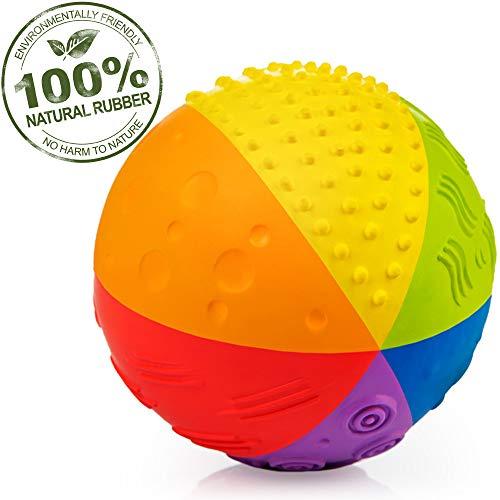 CaaOcho 7002 - Sensory Ball Regenbogen, Naturkautschuk, 10 cm