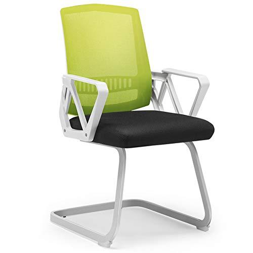 Schreibtischstühle Bürostuhl Office Sessel Stuhl Ergonomisch Büro Home Office Einfachen Rückenschutz Taille Stuhl Armlehnen Ergonomisch ZHANGGUOHUA (Farbe : Green)